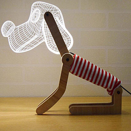 Online 3D Dog Led Lamp