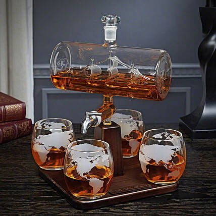 Online Sailing Ship Whiskey Decanter:Unusual Gifts