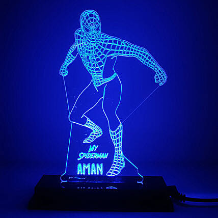 Personalised Spider Man LED Lamp