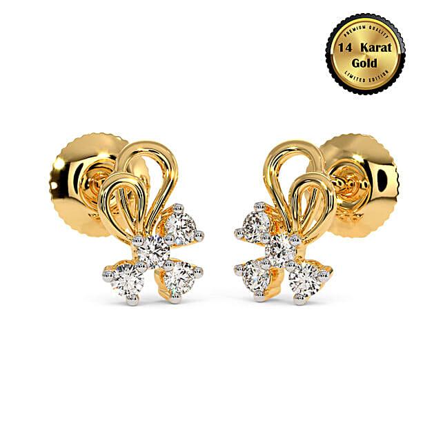 Online The Arsha Stud Earrings:BlueStone Jewellery