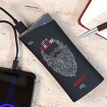 Personalised Let It Grow Micromax Power Bank