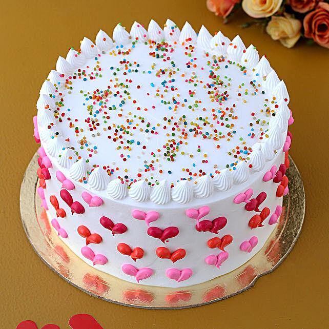 Sprinkle Love Vanilla Cake:New Arrival Cakes