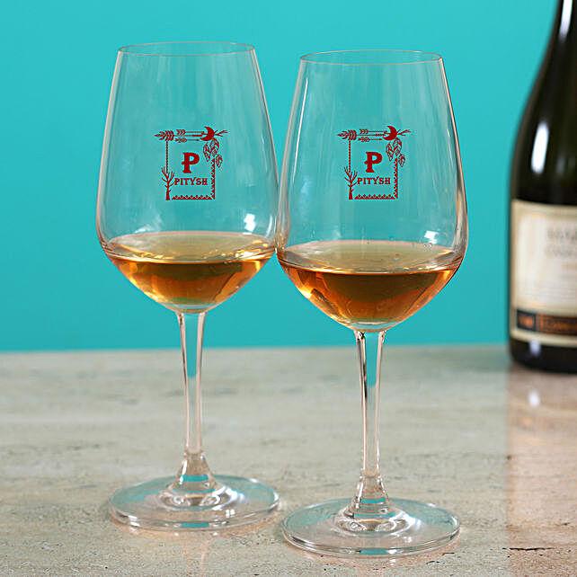 Beautiful Set Of Personalised Wine Glass