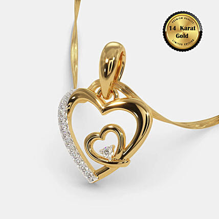 Online Lovers Hearts Pendant:BlueStone Jewellery