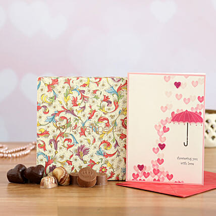 Say Love You With Assorted Gift Box:Milk Chocolates