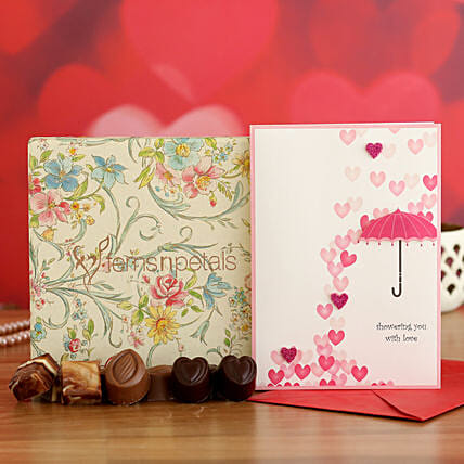 Special Love Chocolates And Valentine Card