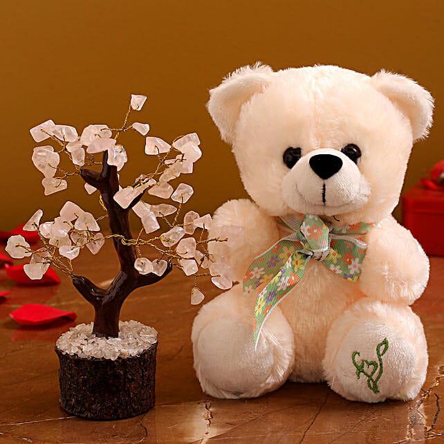 Cute Teddy Wish Tree Hamper:Romantic Soft toys Gifts