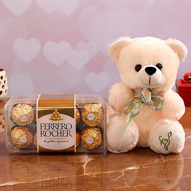 Ferrero Rocher Chocolates Cute Teddy