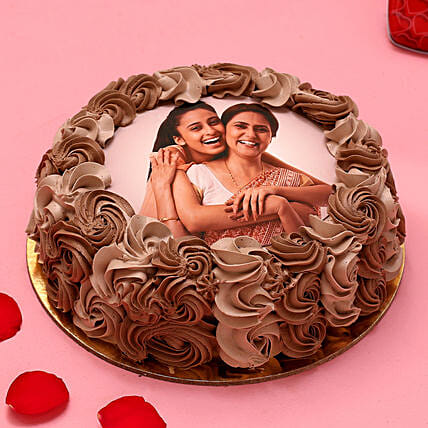 My Love Photo Chocolate Cake:Women's Day Special Cake