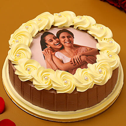 Special Bond Photo Chocolate Cake