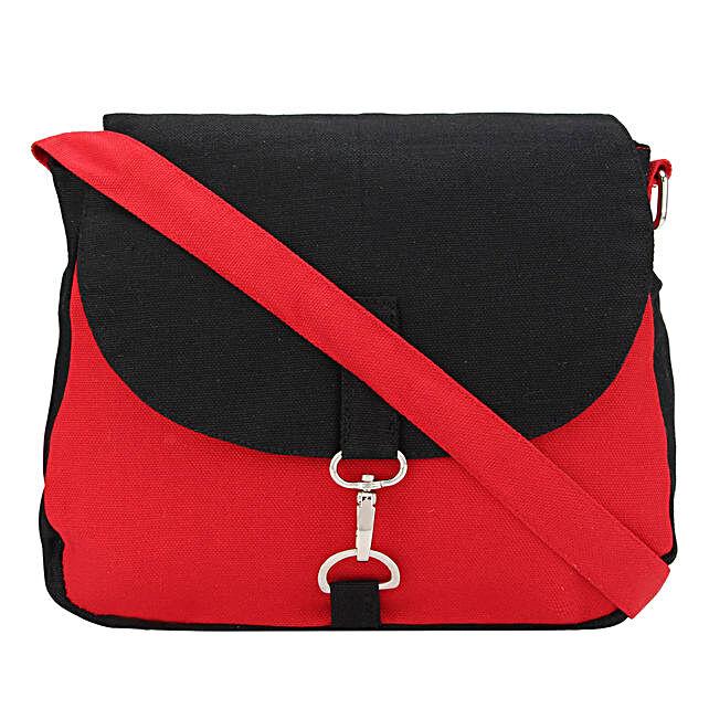 Online  Black Star Canvas Cross-Body:Sling Bags for Women