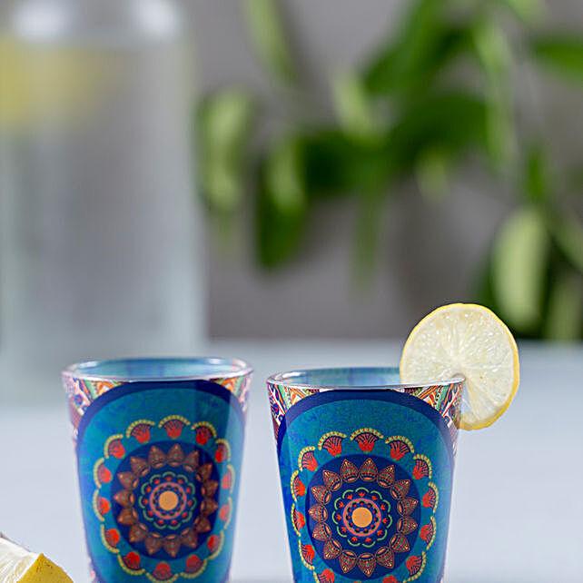 Kolorobia Egyptian Tranquility Shot Glass Set Of 2