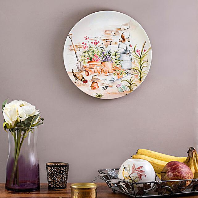Kolorobia English Garden Hen Wall plate