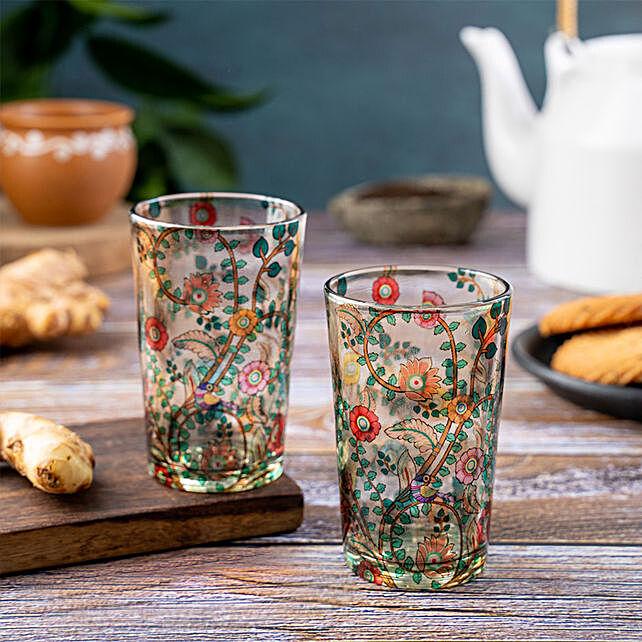 Kolorobia Madhubani Chai Glass Set Of 2