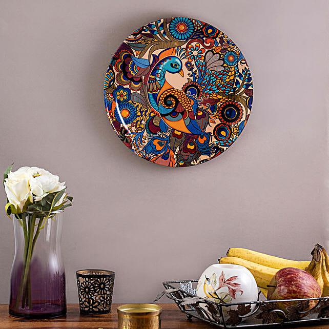 Kolorobia Peacock Admiration Wall plate
