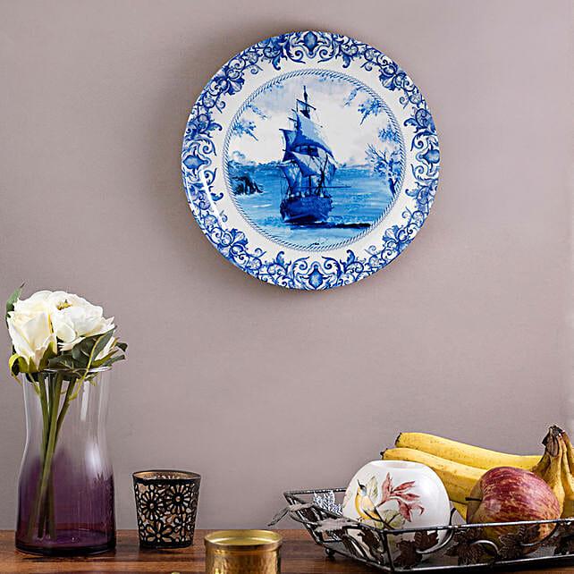 Kolorobia Pottery Ship Wall plate