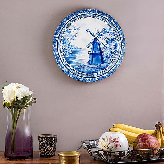 Kolorobia Pottery Windmill Wall plate