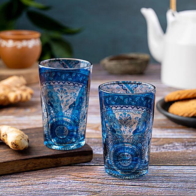 Kolorobia Pristine Turkish Chai Glass Set Of 2