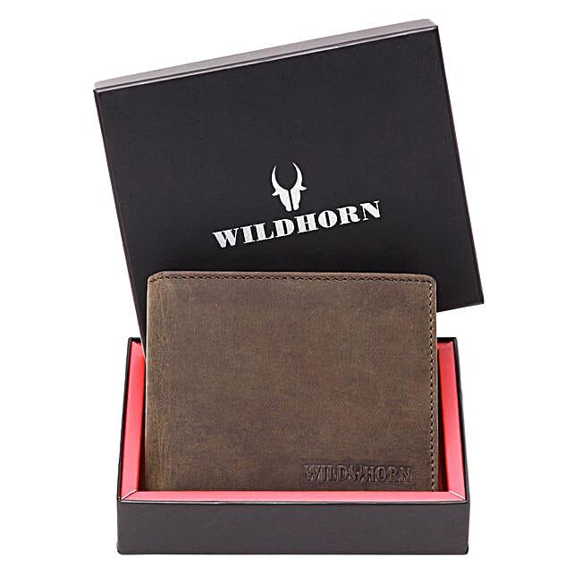 Wildhorn Mens Brown Leather Wallet