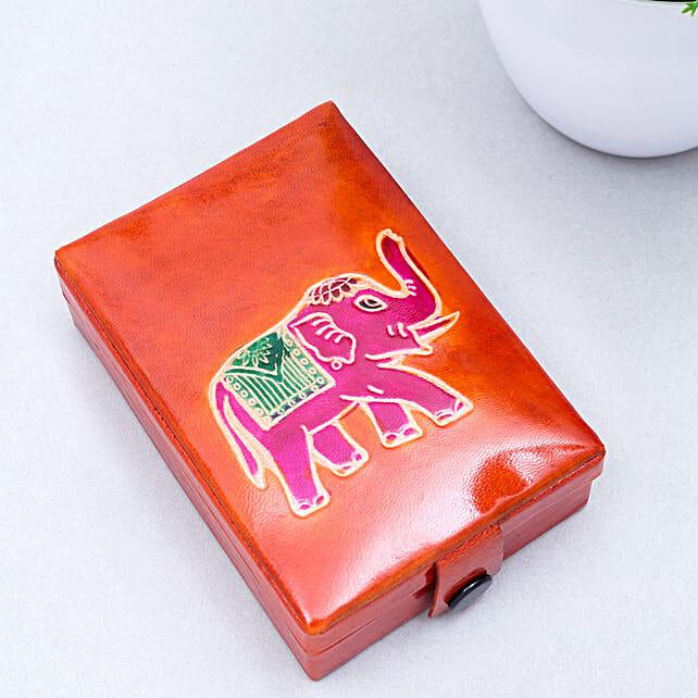 Hand Painted Fine Leather Handbag Multicoloured