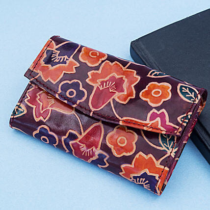 Hand Painted Fine Leather Jewellery Box Violet