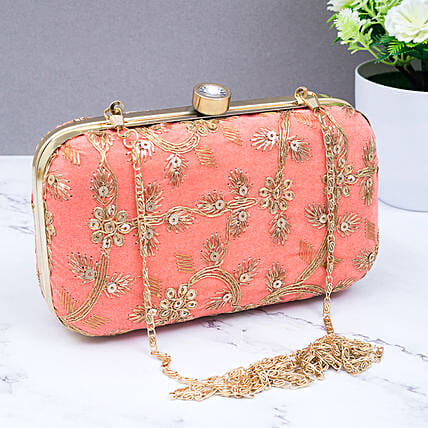 Green Embroidered Clutch:Handbags and Wallets Gifts