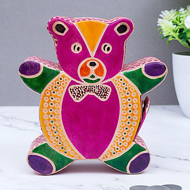 Ganesha Shape Leather Piggy Bank For Kids