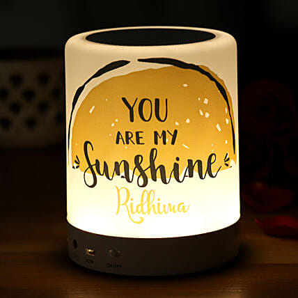You Are My Sunshine Personalised LED BT Speaker:Personalised Gifts Ranchi