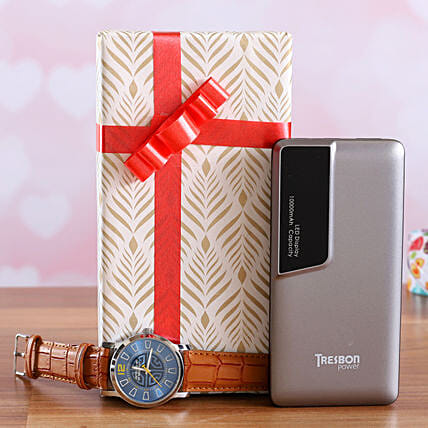Brown Watch And I Next Tresbon Power Bank