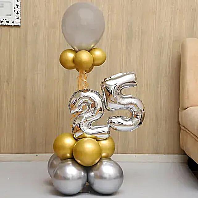 Beautifully Arranged Numeric Balloon Bouquet