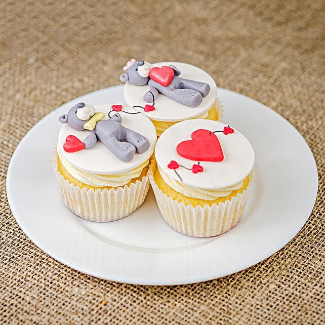 Cute Teddy Couple Cup Cake