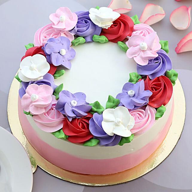 Floral Blossom Chocolate Cake
