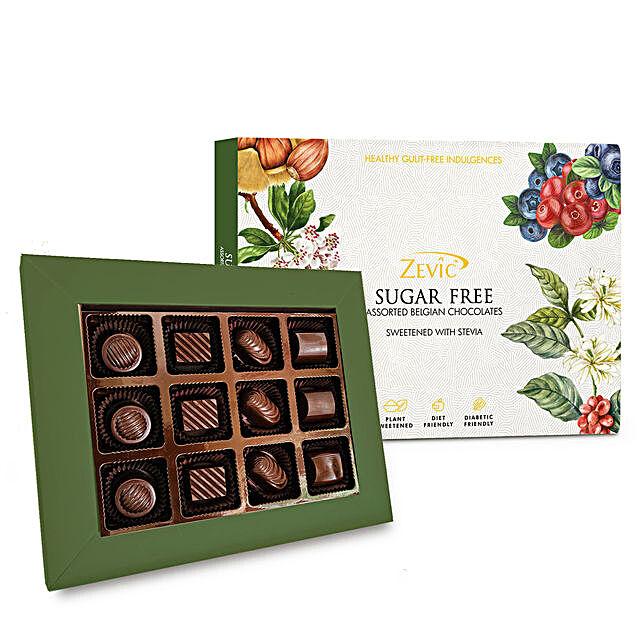 Zevic Dark Sugar Free Chocolates Gift Pack:Sugar Free Chocolates