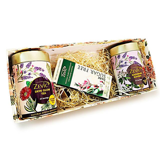 Zevic Herbal Teas And Roasted Almond Chocolate