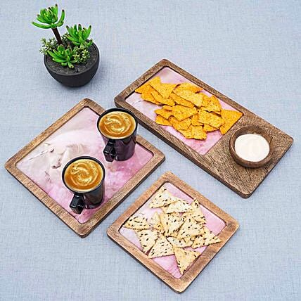 Trendy Wooden Serving Trays
