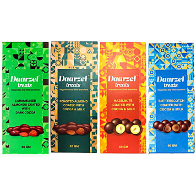 Daarzel Treats Chocolate Nutties Pack Of 4