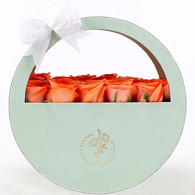 Order Online Cheerful Orange Rose Box