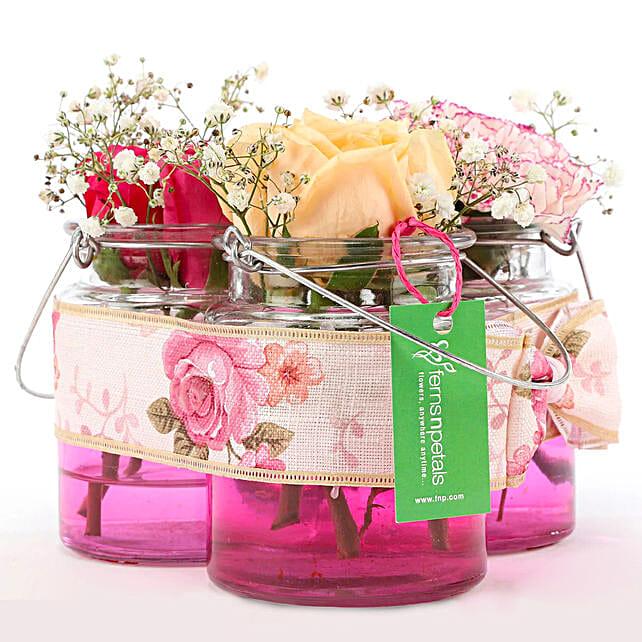 Order Online Jars Of Beautiful Flowers