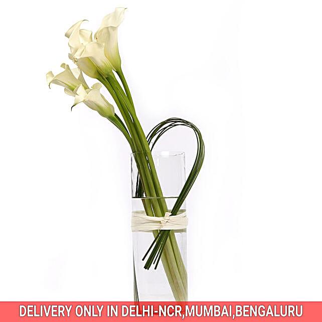 Lilies Vase Arrangment Online