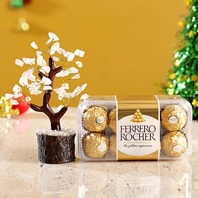 Rose Quartz Wish Tree And Ferrero Rocher Box