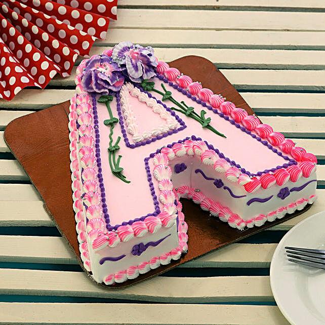 Alphabet A Cake:Alphabet N Number Cakes