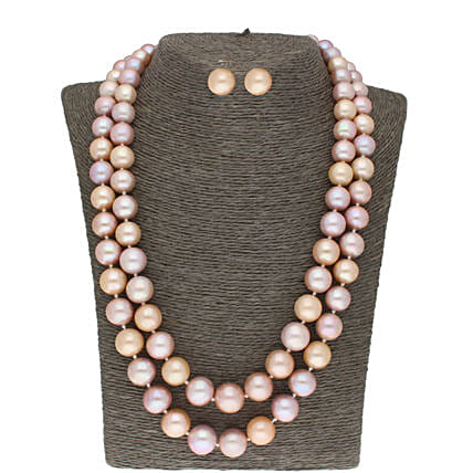 2 Line Knotted Pearl Set
