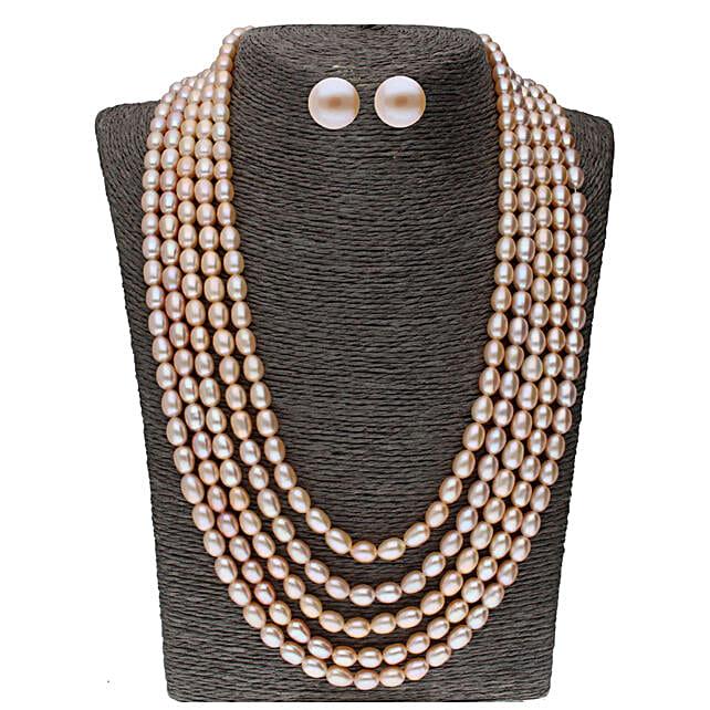 5 Line Oval Pearl Set