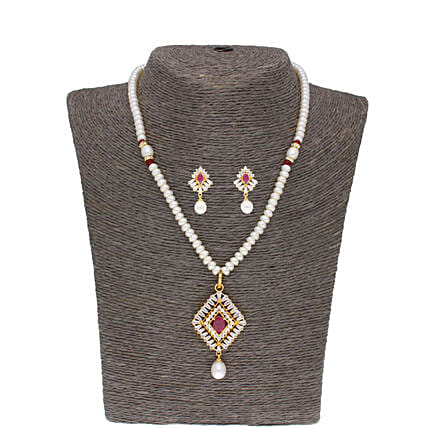 Cancala Pearl Necklace Set