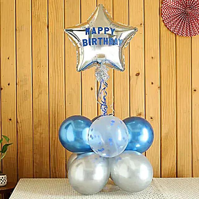 Blue Themed Star Birthday Bouquet