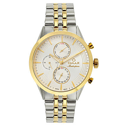 Omax Analog Silver Dial Classy Men s Watch