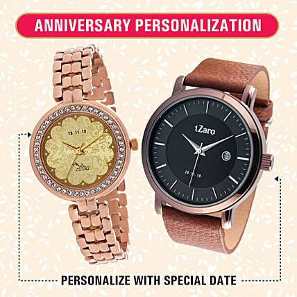 customised watch for couple online