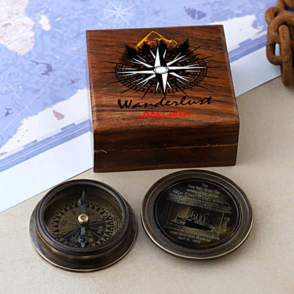Titanic Compass With Personalised Wanderlust Box