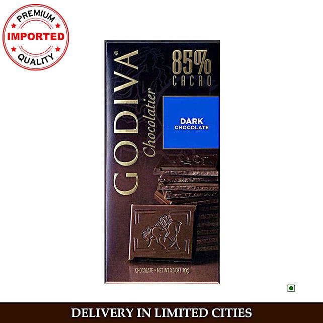 Godiva 85 Percent Dark Chocolate Bar