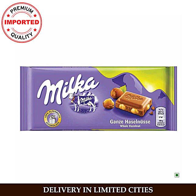 Milka Whole Hazelnut Milk Bar